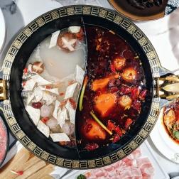 Spicy broth & Chicken broth