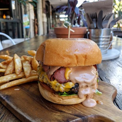 Maple Bacon beef burger